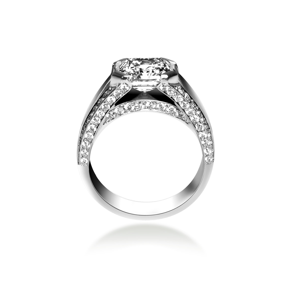 bague diamant asscher cut