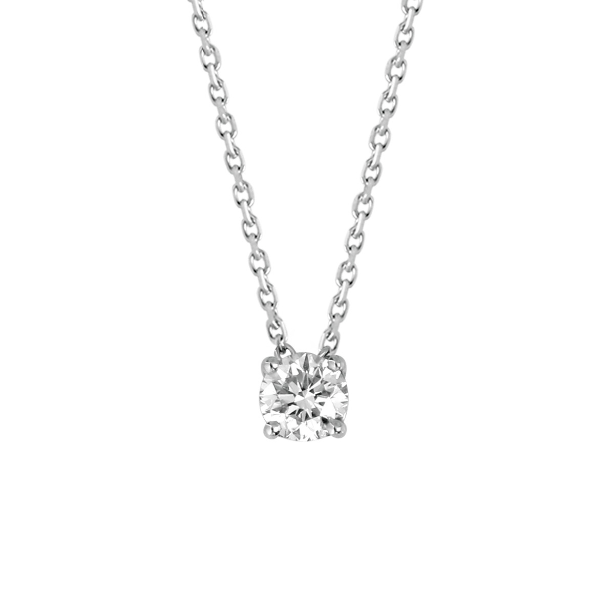 white gold pendant bijoux pendentif diamant solitaire. Black Bedroom Furniture Sets. Home Design Ideas