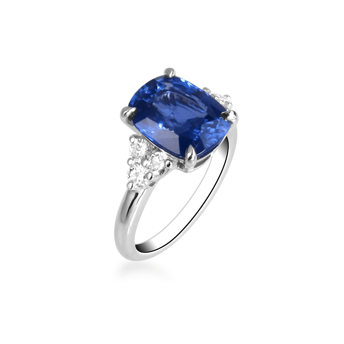 Blue Diamond Weding Rings Set 09 - Blue Diamond Weding Rings Set