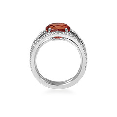 bague fiancailles saphir orange
