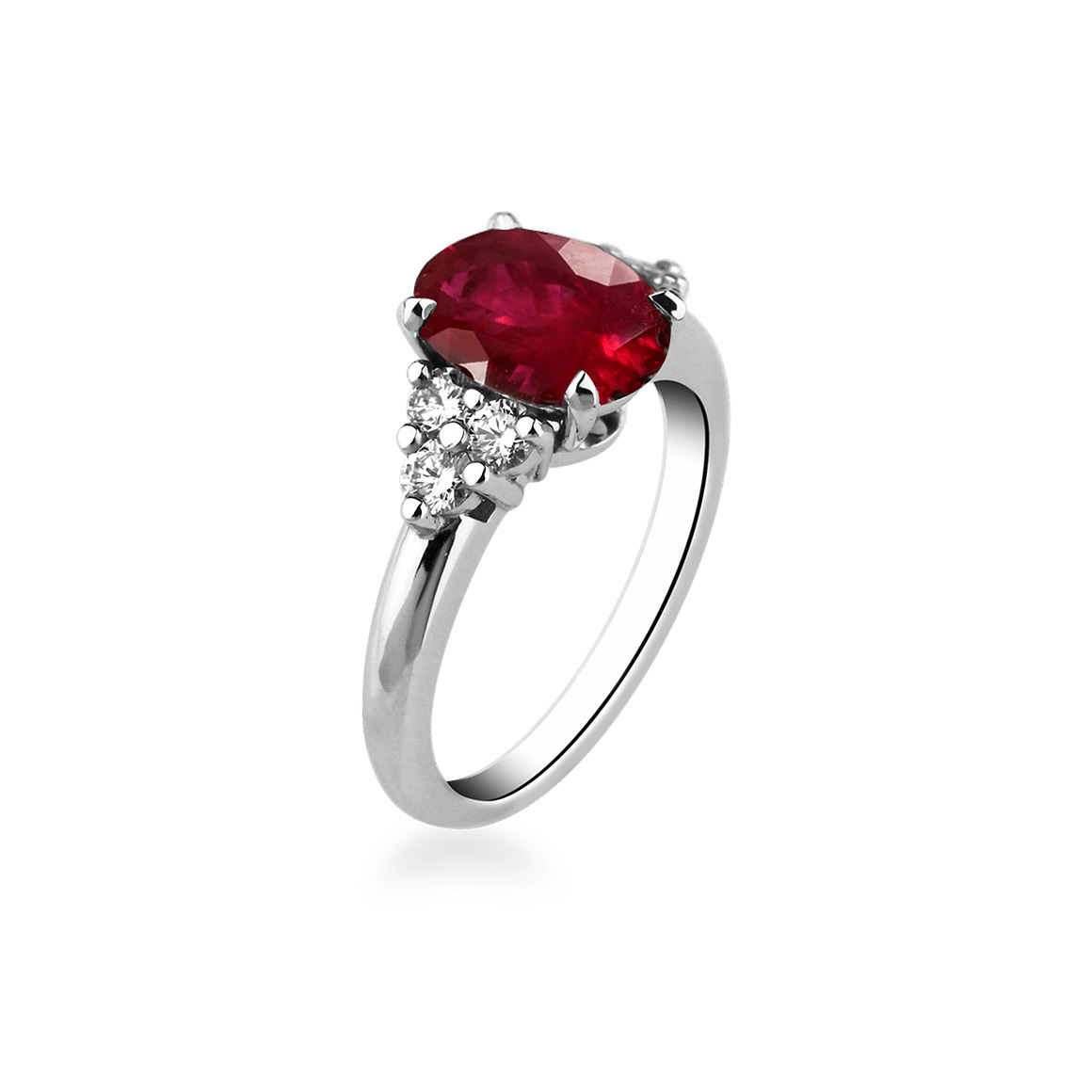 Bague fillancaille rubis