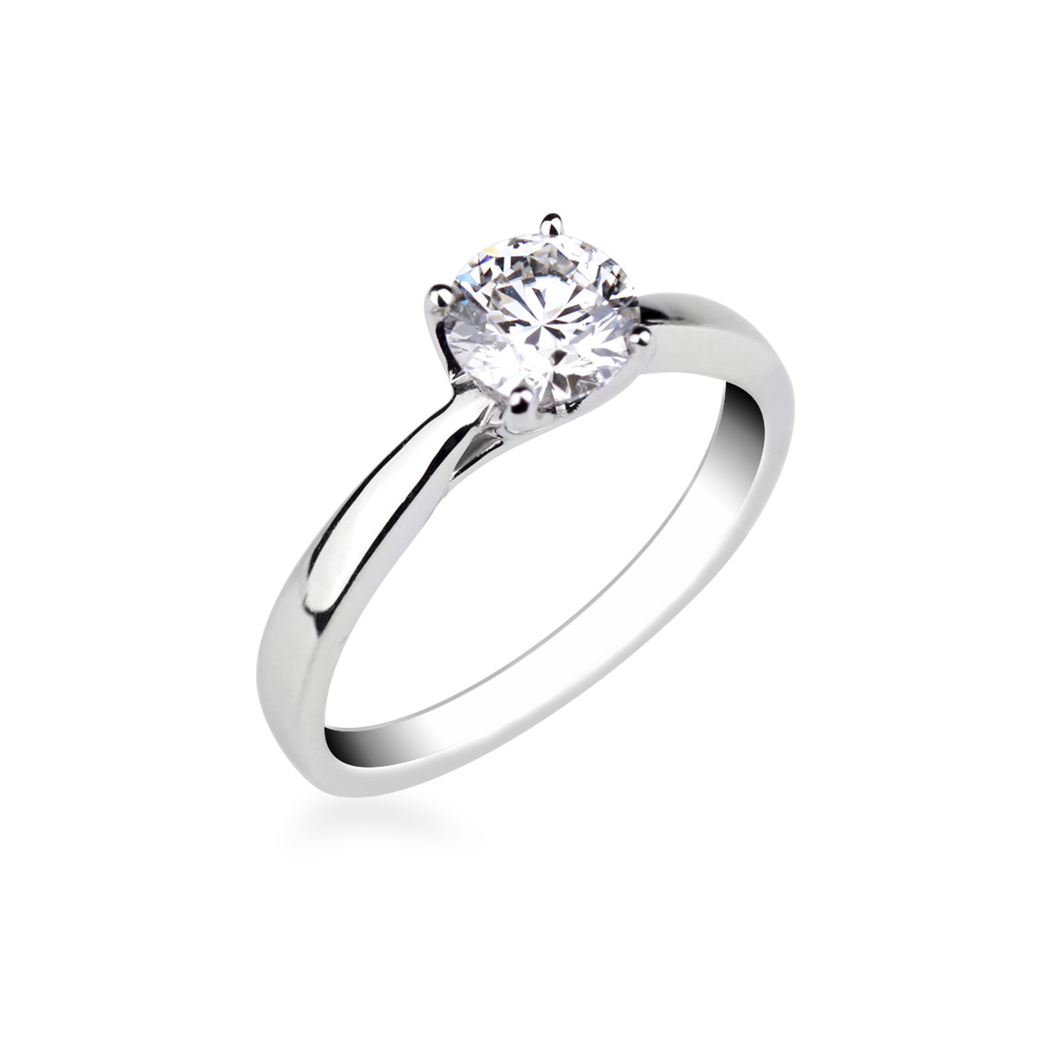 bague solitaire contemporaine