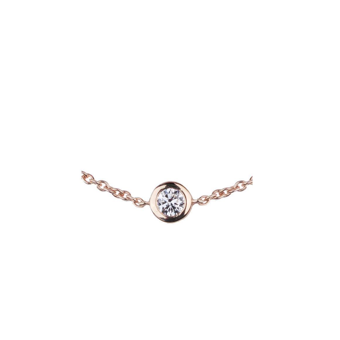 Bracelet solitaire or rose diamant