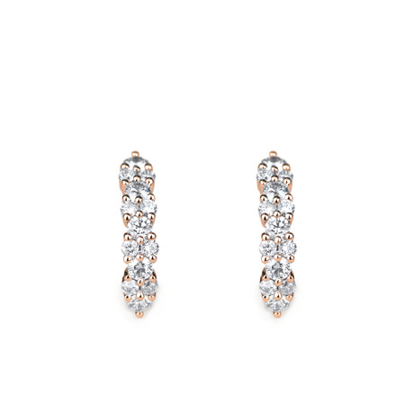Ondine boucles d'oreilles en diamants.
