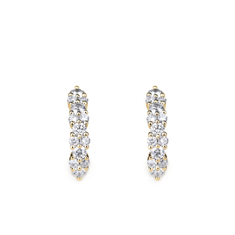 Ondine boucles d'oreilles diamants
