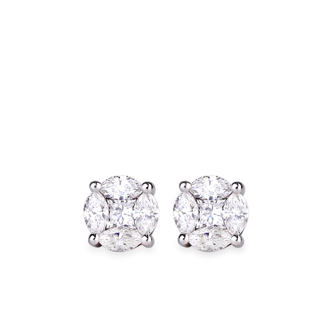 Daisy boucles diamants