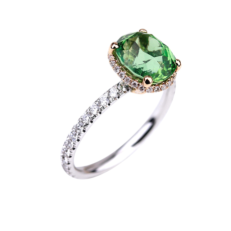 Crown tourmaline verte